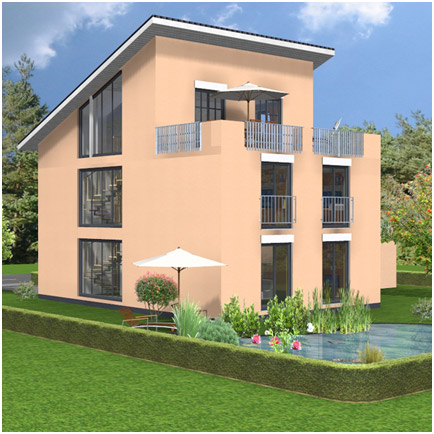 Visuelle Architektur Entwurfsplanung 3d Hausplanung